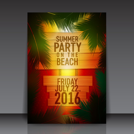 flyer background: Summertime Vector Background Flyer