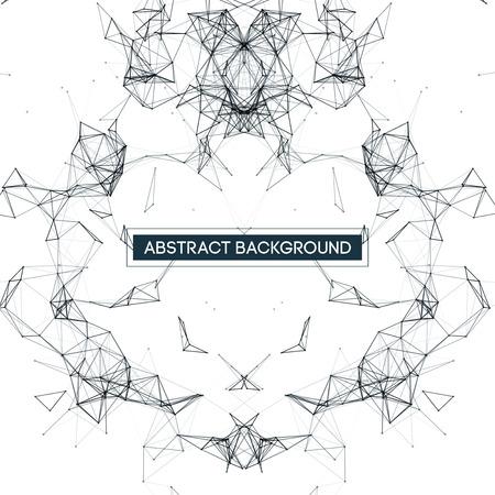 mesh: Black and White Mesh Design   Vector Background