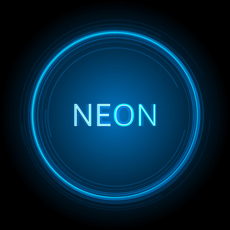black backgrounds: Neon Circle Vector Background