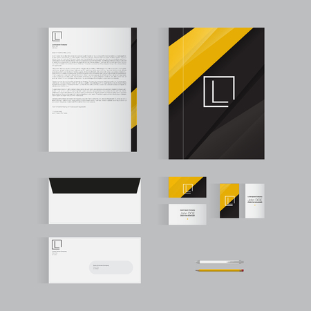 cover background time: Modern Stationery Design Template Design for Your Business