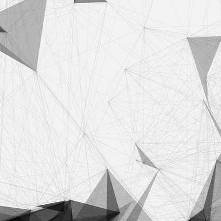 geometric shapes: Black and White Mesh Design Background