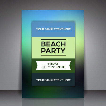 beach party: Minimal Beach Party Template Background