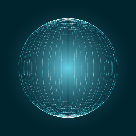 digital globe: Abstract 3D Globe Design Illustration Circle Illustration