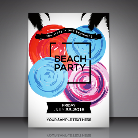 beach party: Beach Party Template Background
