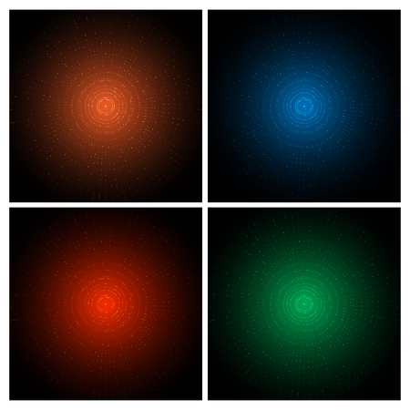 night vision: Set of Colorful Dots Abstract Design Backgrounds