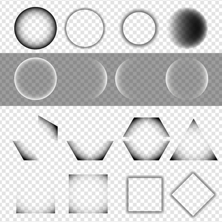 parallelogram: Set of Basic Geometric Shapes with Shadow on Isolated Background - EPS10 Vector Illustration Illustration