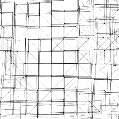 perspectiva lineal: Abstract 3D Cube Vector Texture Background | Creative Line Art