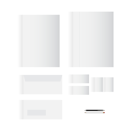 originality: Blank White Stationery Template Design for Your Business | Modern Vector Design Illustration