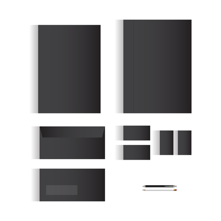 originality: Blank Black Stationery Template Design for Your Business | Modern Vector Design Illustration