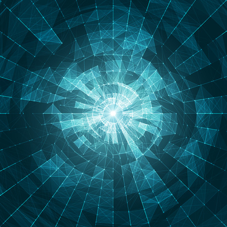 computer art: White Abstract on Blue Vector Mesh Background - Futuristic Background UX - Elegant Background for Business Presentations