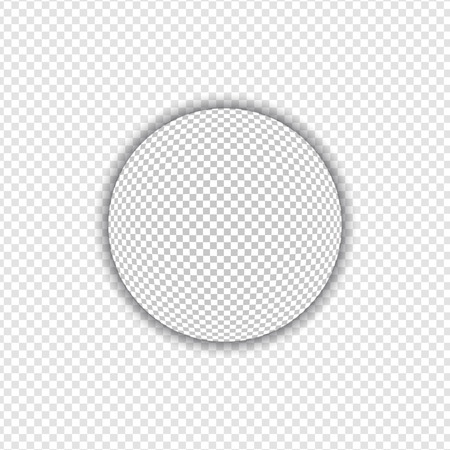 fisheye: Big Sphere with Transparent Shadow | Design Elements on Isolated Background