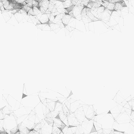 Black and White Vector Mesh Background | EPS10 Design