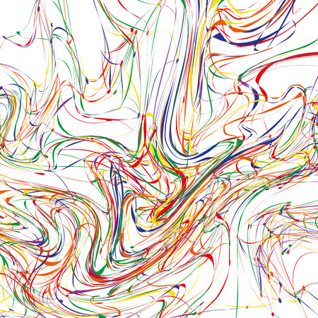 Colorful Abstract Artistic Paint on White Background / Vector Illustration