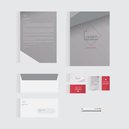 envelope: Abstract Stationery Template Design for Your Business |
