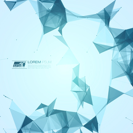 medical technology: Abstract Blue with Space Polygonal Connecting Dots and Lines   Illustration
