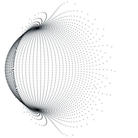 Black Sphere - Abstract Grid Globe -