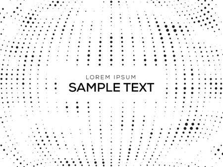 retro pattern: Abstract Black and White  with Halftone Text. Illustration