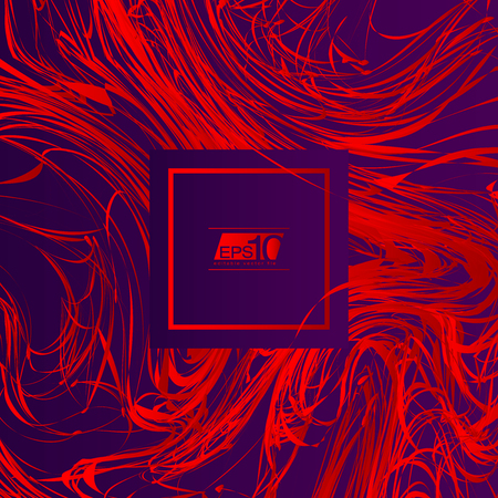 grunge backgrounds: Red Line Abstract Art on Purple Background | Vector Illustration