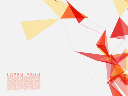 white wave: Red and Yellow Abstract Shapes on White Background