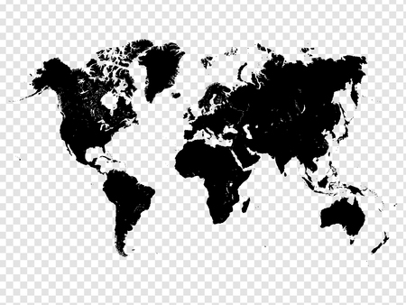translucent: Transparent Detailed World Map Vector Design