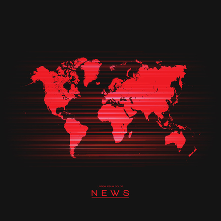 global communication: Vector Background World Map   News Illustration