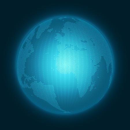 Abstract 3D Earth Globe Vector Illustration
