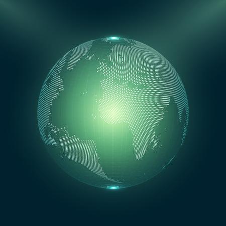 city: Abstract 3D Earth Globe Vector Illustration | EPS10 Design