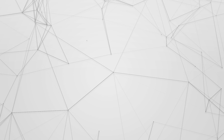 grey pattern: Abstract Grey Background with 3D Polygonal Low Poly Connecting Dots and Lines - Connection Structure - Futuristic HUD Background