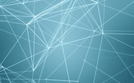 crystal background: Abstract Blue Background with Space Polygonal Connecting Dots and Lines | Network - Data Visualization Illustration Stock Photo