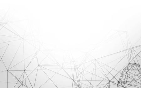 grey pattern: Abstract 3D Polygonal White Background with Low Poly Connecting Dots and Lines - Connection Structure - Futuristic HUD Background