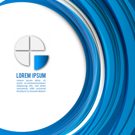 modern background: Blue Modern Business Design Layout