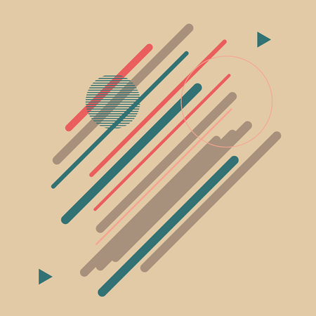 cover: Geometric Abstract Colorful Lines Vector Background