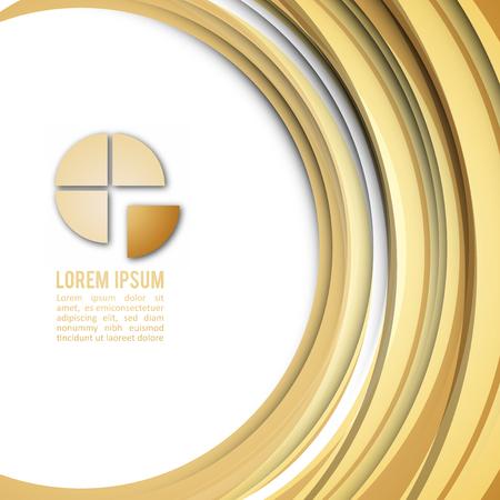 Gold Business Design Modern Layout Illustration
