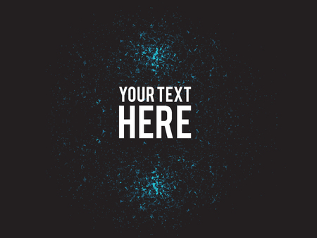abstract backgrounds: Blue Abstract Explosion Vector Illustration with Large White Text | particles Design Illustration