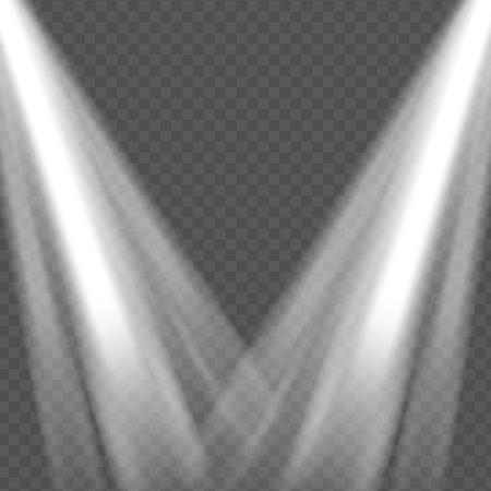 empty: Realistic Lights on Transparent Background | Vector Illustration Illustration