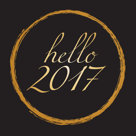 new years: Hello 2017 - Happy New Year Vector Illustration Illustration