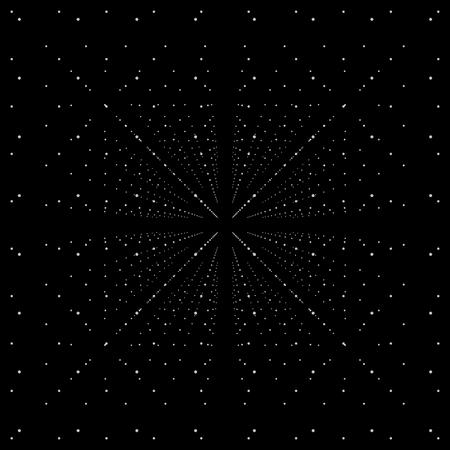 Sphères blanches 3D abstraites sur fond noir - Illustration futuriste