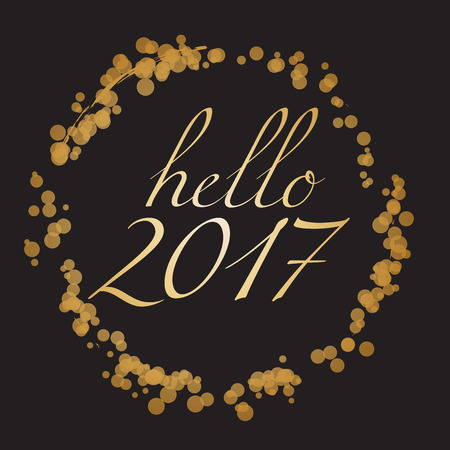 abstract backgrounds: Hello 2017 - Happy New Year Vector Illustration Illustration