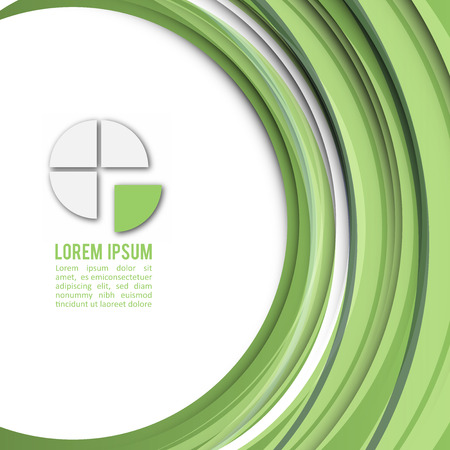 business card template: Color of the Year 2017 | Greenery Modern Business Design Layout Illustration