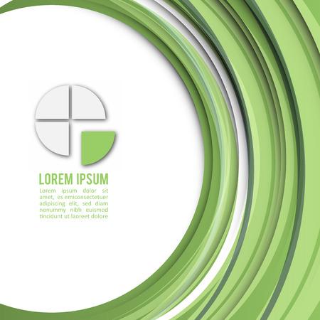 abstrakcja: Kolor roku 2017   Zielony Nowoczesny Projekt Biznesowy Układ Ilustracja