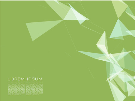modern background: Abstract Shapes White on Green Background. Futuristic Design