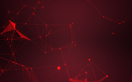 red wallpaper: Polygonal Space Abstract Background with Dark Red Connecting Dots and Lines | futuristic Design