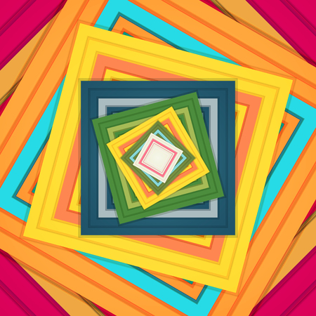 Colorful Abstract Square Illustration - Cover Design