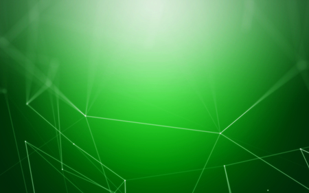 metal mesh: Polygonal 3D Abstract Background with Green Space Low Poly Connecting Dots and Lines - Connection Structure - Futuristic HUD Background