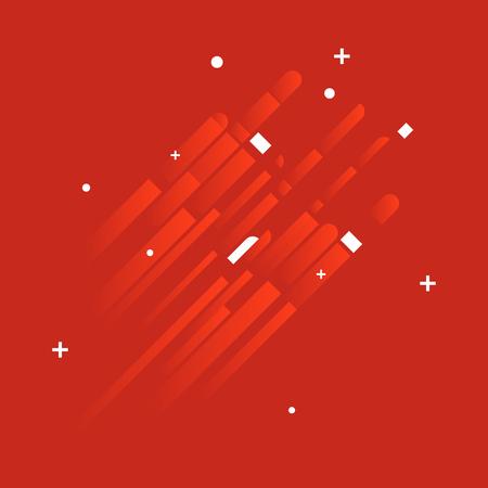 modern background: Minimalistic Abstract Design - Creative Concept - Modern Abstract Diagonal Red Gradient Background with Geometric Elements. Red, White Diagonal Lines & Circles. Vector Illustration