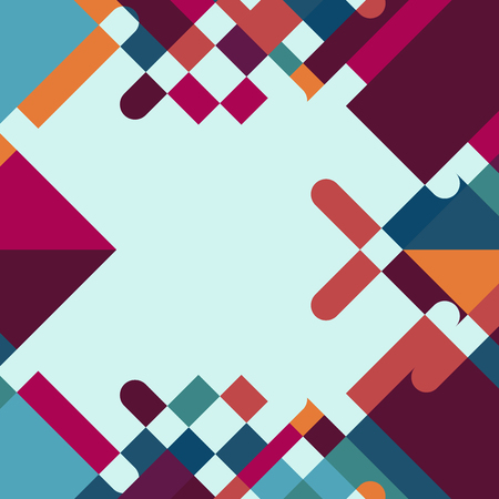 decoration: Colorful Abstract Geometric Shape Vector Background Illustration