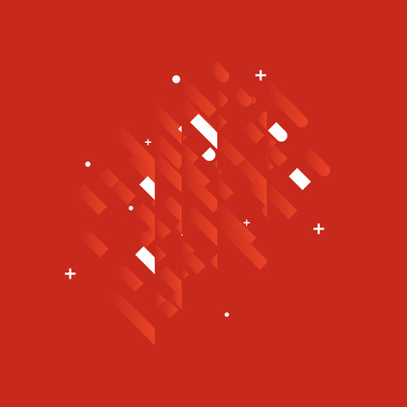 abstract backgrounds: Minimalistic Abstract Design - Creative Concept - Modern Abstract Diagonal Red Gradient Background with Geometric Elements. Red, White Diagonal Lines & Circles. Vector Illustration