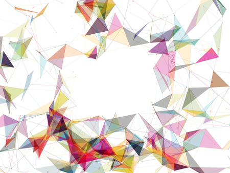 modern background: Colorful Abstract Vector Polygon Mesh on White Background