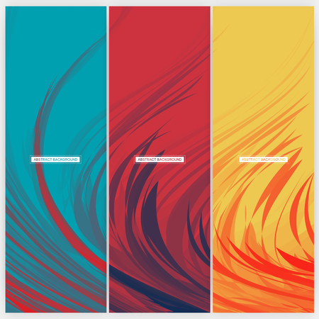 decoration: Set of Feather Abstract Background Design | Vector Illustration Illustration