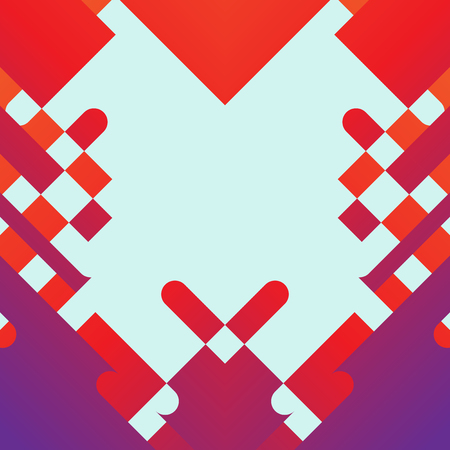 rectangle: Abstract Red and Purple Geometric Shape Vector Background
